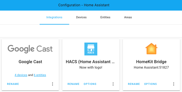 HACS icon in the Home Assistant frontend
